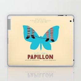 Papillon, Steve McQueen vintage movie poster, retrò playbill, Dustin Hoffman, hollywood film Laptop & iPad Skin