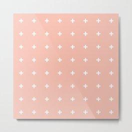 Peach Cross / Plus Metal Print