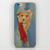 superhero iPhone & iPod Skins featuring Hamster Superhero by Michael Creese