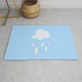 Pastel Rainbow Rain Cloud Rug