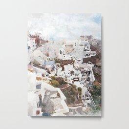 Santorini Greece Metal Print