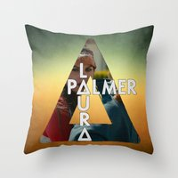 laura palmer Throw Pillows featuring Bastille - Laura Palmer by Thafrayer