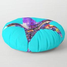 Mirrored Purple Disco Ball Star Floor Pillow
