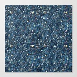 Aqua Blue Aurora Borealis Close-Up Crystal Canvas Print
