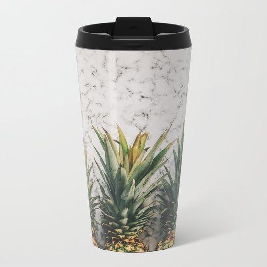 Pineapple Luxe Metal Travel Mug