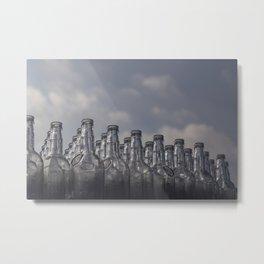 Bottled Clouds Metal Print