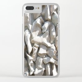 Weathered wall made of stones and cement Clear iPhone Case