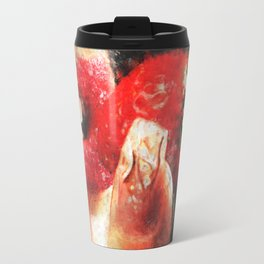 Sexy woman eating a strawberry Travel Mug