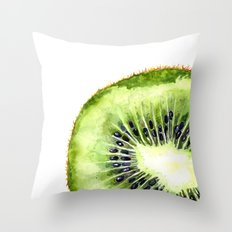 Kiwi Slice Throw Pillow