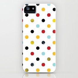 Multi Colored Dots and Glitter iPhone Case