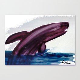 WHALE     by Kay Lipton Canvas Print