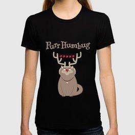 Purr Humbug. Not-So-Festive Cat. T-shirt