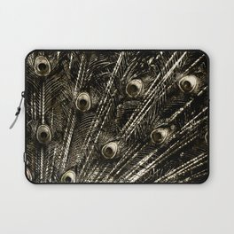 427 8 Steel Peacock Feathers Laptop Sleeve