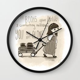 Books Are Comfort Wall Clock
