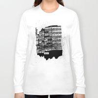 hong kong Long Sleeve T-shirts featuring Hong Kong Flats by Miguel Villasanta