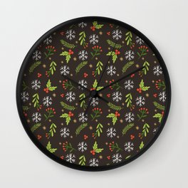 Decorative Christmas Patterns Wall Clock