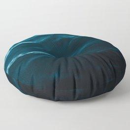 Minimalist blue water surface texture - oceanscape Floor Pillow