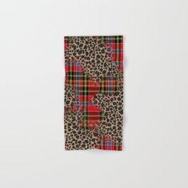 tartan leopard Hand & Bath Towel