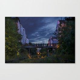 Gare de la rue Claude-Decaen la Nuit Canvas Print