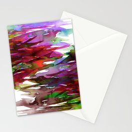 FERVOR 3 Colorful Bold Abstract Autumn Fall Crimson Red Purple Mauve Green Watercolor Painting Art Stationery Cards