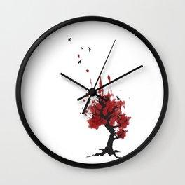 Murder in a Tree; crows Wall Clock