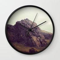 giants Wall Clocks featuring Giants by Slug Draws