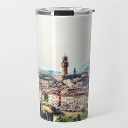 Landscape View of Florence, Italy and Arno River by Jeanpaul Ferro Travel Mug