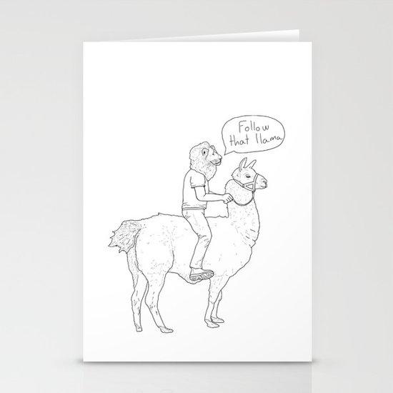 Follow that llama ! Stationery Cards
