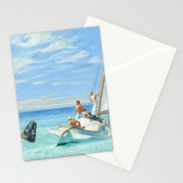 Ground Swell OIl Painting by Edward Hopper Stationery Cards