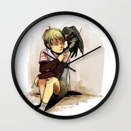The Boy and The Falcon Wall Clock