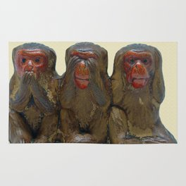 Three Wise Monkeys Rug