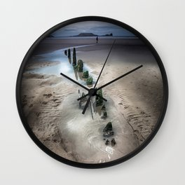 worms head rhossili bay Wall Clock