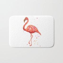 Flamingo, Pink Flamingo, Tropical, bird art, Florida Bath Mat