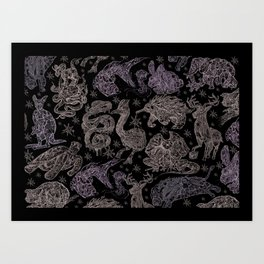 Animal Find-A-Thing Art Print