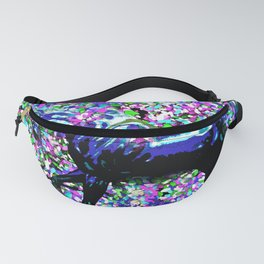 HORSE AND FLOWER PETALS OIL PAINTING Fanny Pack