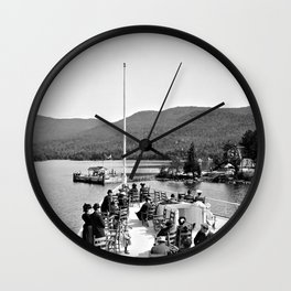 Vintage Lake George: Huletts Landing Wall Clock