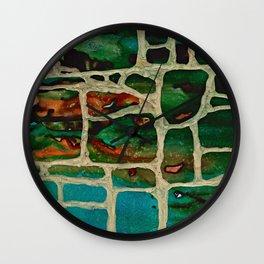 Block Wall Wall Clock