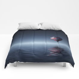 Hot Air Balloon Reflection Comforters
