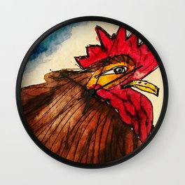 Rusty Rooster Wall Clock