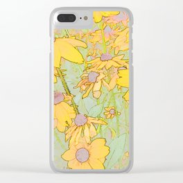 270 - Field of Flowers Clear iPhone Case