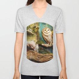 Cuckoo in the Owl's nest Unisex V-Neck