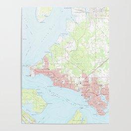 Vintage Map of Panama City Florida (1956) Poster