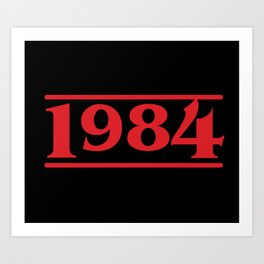 Strange 1984 Art Print