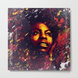 Nina Simone | Pop art | Digital portrait Metal Print