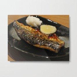 japanese mackerel entree Metal Print