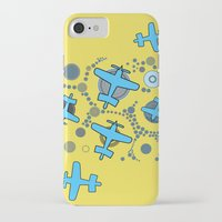 airplanes iPhone & iPod Cases featuring blue airplanes by Isabella Asratyan