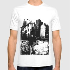 GRIND Mens Fitted Tee MEDIUM White