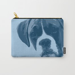 I love my dog - Boxer, blue Carry-All Pouch