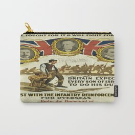 Vintage poster - British Recruiting Carry-All Pouch