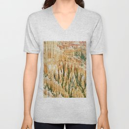 usa bryce canyon utah national park Unisex V-Neck